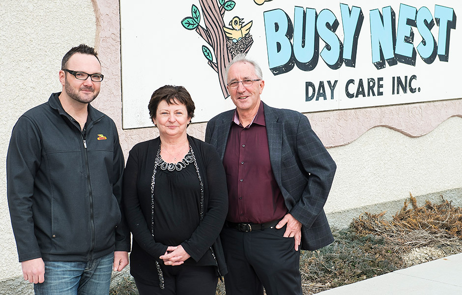 2013 winner Arthur Enns from Morris, MB donated $2,500 to Busy Nest Day Care Inc.