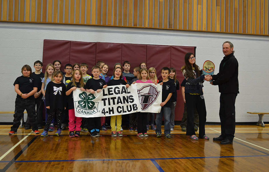 2014 winner Fred Kieser from Clyde, AB donated $2,500 to the Legal Titans 4-H Club.