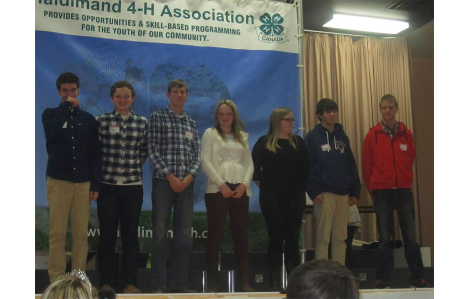2014 winner Johan Peter from Wellandport, ON donated $2,500 to the Haldimand 4-H Association.