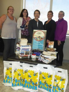 The Friends of the Falher Library (from left) Jaclyn, Laura & baby Gabriel, Wendy, Tracy & Therese.